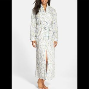 Liberty | Floral Robe w/Aqua satin sash Full